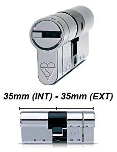 High Security Euro Cylinder Barrel Lock - Anti-Pick, Anti-Snap, Anti-Bump - High Security Door Lock - Door Lock Barrel - 35/35 by HomeSecure