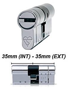 High Security Euro Cylinder Barrel Lock - Anti-Pick, Anti-Snap, Anti-Bump - High Security Door Lock - Door Lock Barrel - 35/35 by HomeSecure