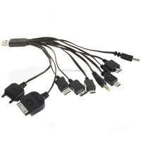 10in1 USB Powered Charging Cable for iPod PSP Cell Phones