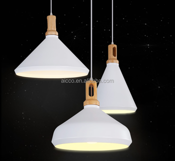 Modern Pendant Light With Wooden Pendant Lighting Aluminium Metal ...