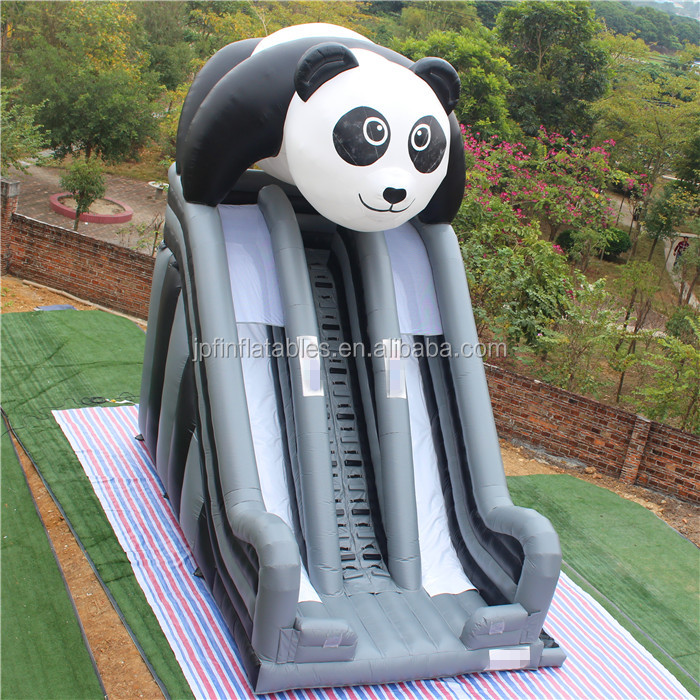 2020 theme park equipment for sale / inflatable panda slides for sale
