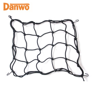 "Safe secure 15"" x 15"" elastic cargo net bungee strap cargo nets with hooks"