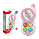 Lovely toys funny wholesale baby electronic musical toy phone with light HC396508