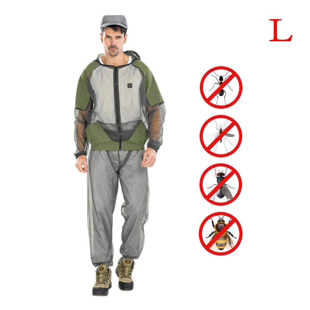 SHZONS Mosquito Suit, Portable Outdoor Mosquito Repellent Mesh Clothing,Perfect for Outdoor Hunting Camping FishingOutdoor Mosquito Repellent Sun Protection Clothing