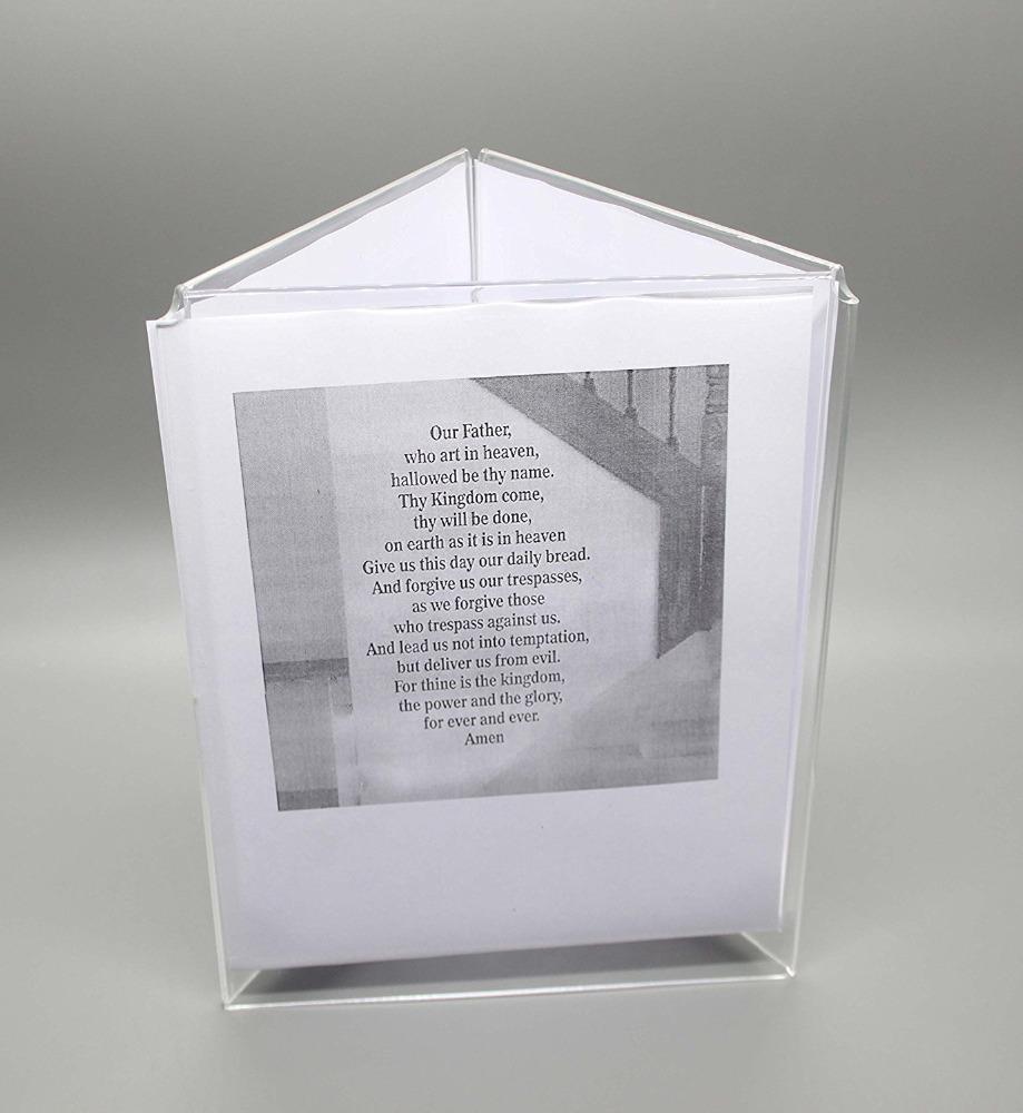 Wholesale acrylic triangle shape photo frame