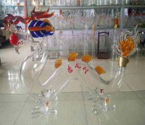 Dragon Shape Liquor Bottle Animal Glass Bottle Wholesale