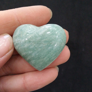 Wholesale Natural crystal gemstones carved hearts shaped amazonite stones hearts