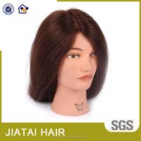 Factory direct sales human hair cheap hairdresser practice mannequin head