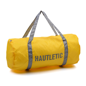 Modern high quality hot sale unique design durable yellow polyester sports duffle bag