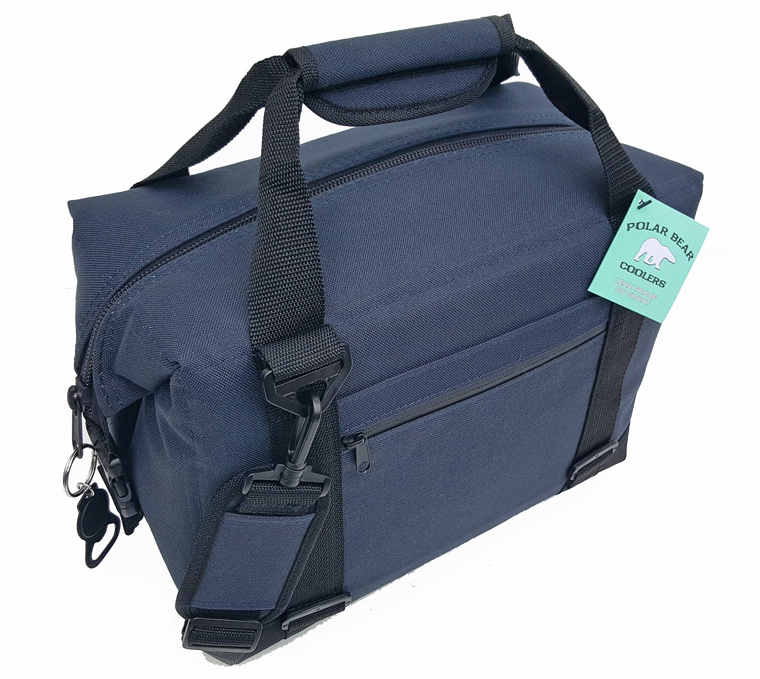 Polar Bear Coolers Nylon Line - Quality Like No Other From the Brand You Can Trust - See Touch & FEEL the Polar Bear Difference - Patent Pending - 12 Pack Navy