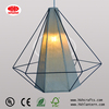 Diamond shape hanging fabric lamp shade