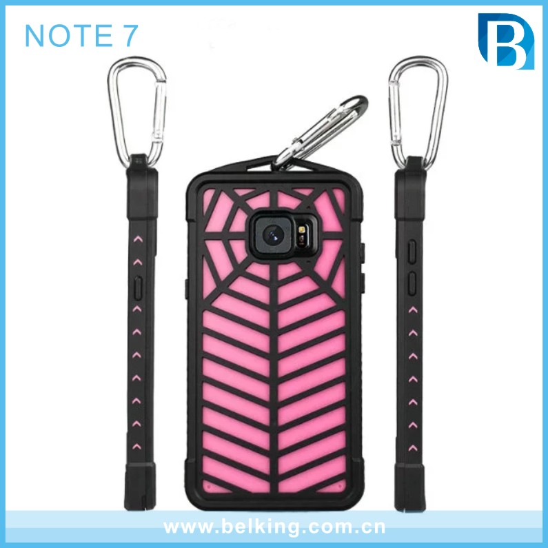 OEM Waterproof Spider Net Cover Case for Samsung Galaxy Note 7, Back Cover for Samsung Galaxy Note 7