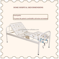 High quality iron home hospital bed dimensions