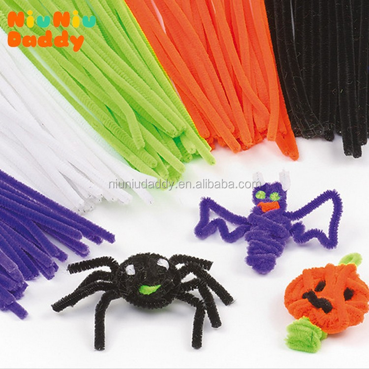 100pcs/set Children's Educational Toys DIY toys materials shilly-stick <strong>Plush</strong> Stick handmade art Christmas toys
