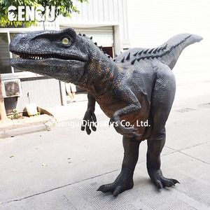 Dinosaur head costume customized walking with robotic dinosaur costume