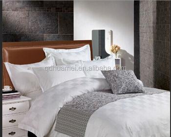 100 Baumwolle Weiß Luxushotel Bett Leinenbettwäsche Setbettwäsche