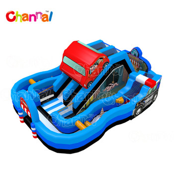New design inflatable obstacle course outdoor obstacle course with slide