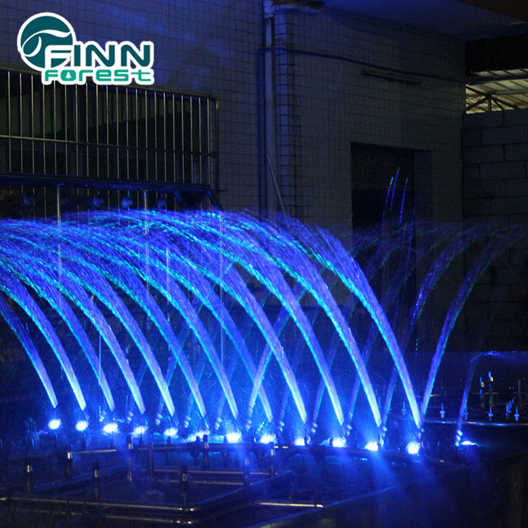 Ornamental swing dancing fountain floating lake music 6m