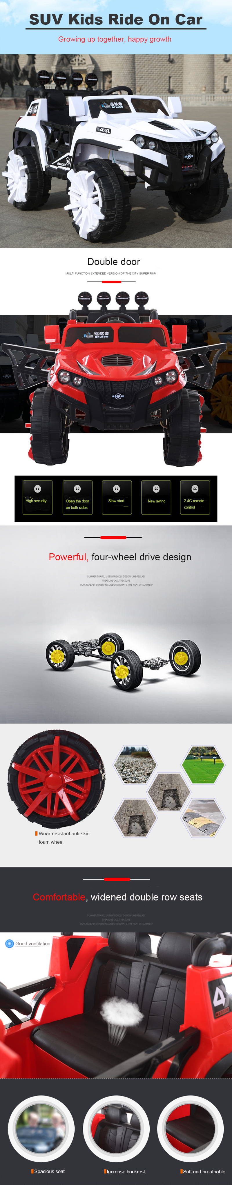 2019 New style monster truck kids electric toy car to drive