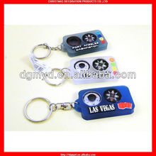 Eco-friendly soft pvc compass promotion key chain CMS-53134