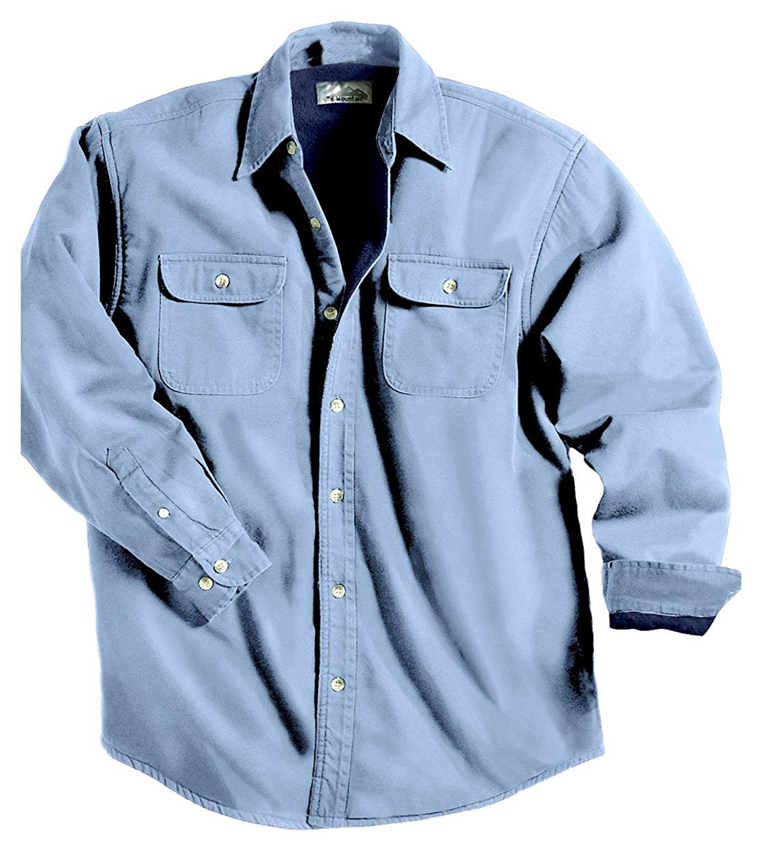 d8b06db34c8 Get Quotations · TRM Men s Cotton Tahoe Stonewashed Fleece Denim Shirt  Jacket (10 Color