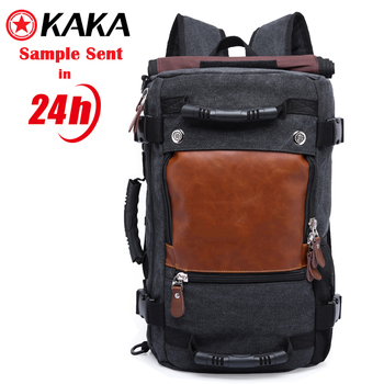 0df36307f9 kaka 40L blank canvas backpack For Men 3 way Waterproof Laptop Bag rucksack  canvas backpack bag