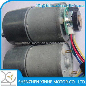 Hot sell 2015 new products high torque 37mm 6v 12v dc gear reducer motor 64cpr, hall sensors encoder