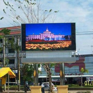 P12.5 all-weather high brightness Led illuminated display panel