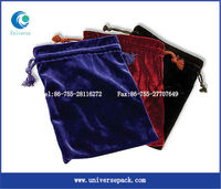 Red high-grade gem bag/ velvet jewelry bag drawstring wholesale