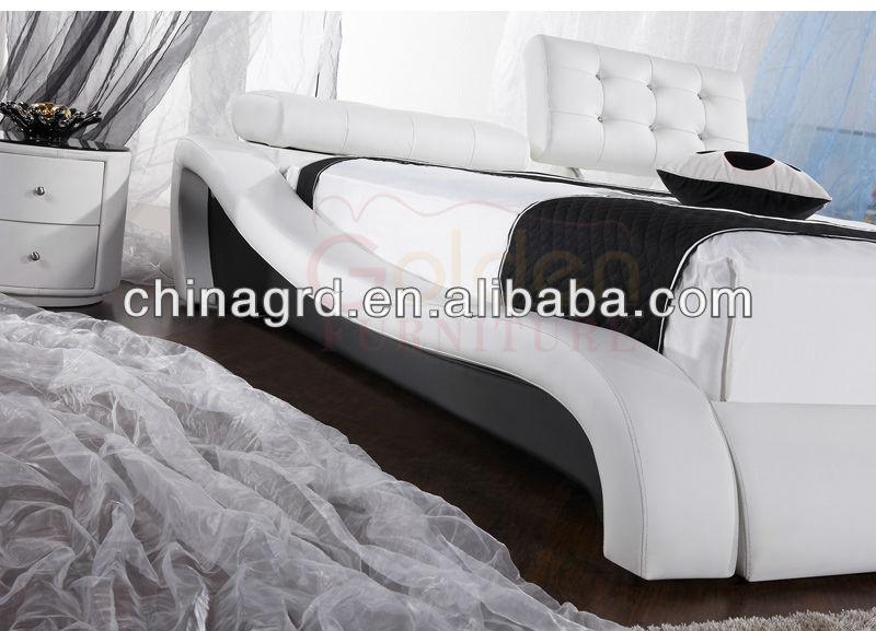 HG933 Stilvolle Design Einstellbare Bett Kopfteil Für Königin Größe Weißen  Ledersofa