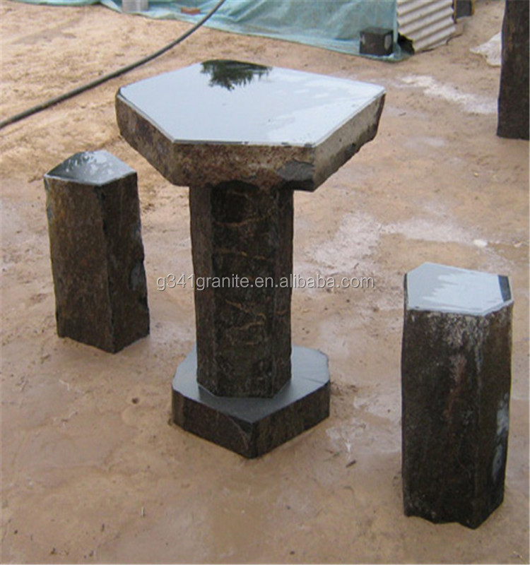 carved natural stone outdoor patio four season bench for park furniture