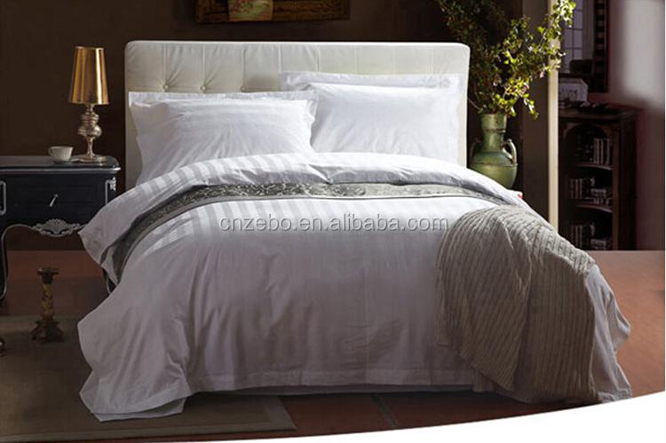 Pure Cotton 3cm Sateen Stripe Bedding Sets Cheap Hospital
