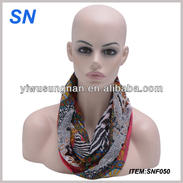 spring / autumn / summer fashion chiffon new infinity scarf