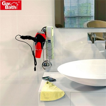 Best Selling Stainless Steel Vacuum Suction Cup Vintage Hair Dryer Holder