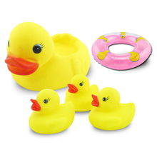 ebay hot sale cheap rubber duck 5pack baby swimming bath toy with high quality