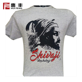 High Density Print T Shirt With Custom Labels , Custom T-Shirt Printing Logo 100% Polyester
