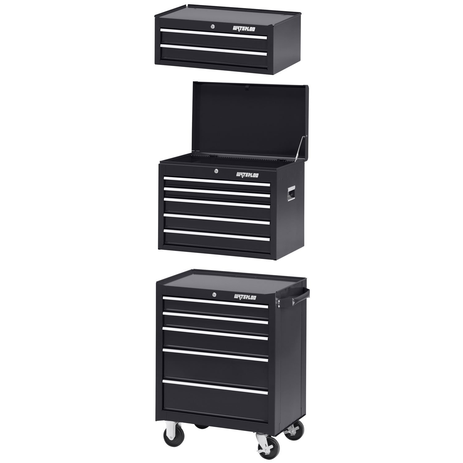 tool frontier drawer drawers box chest black