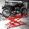 mini telescopic hydraulic manual motorcycle lift with two cylinder