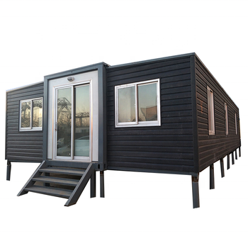 Low price prefab 40ft expandable container homes folding house for sale to Chile