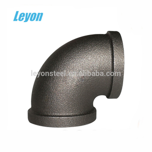 Plumbing Material black iron pipe butt welded fittings 90 degree elbow pipe fitting