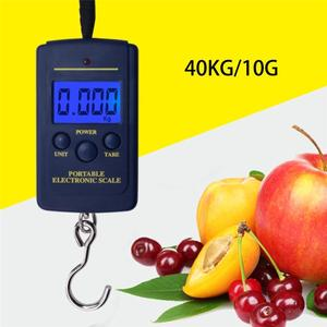 New LED Digital 40Kg 10g Fish Hook Hanging Electronic Weighting Luggage Scales Mini Digital Hand Held Hook Hanging Scale