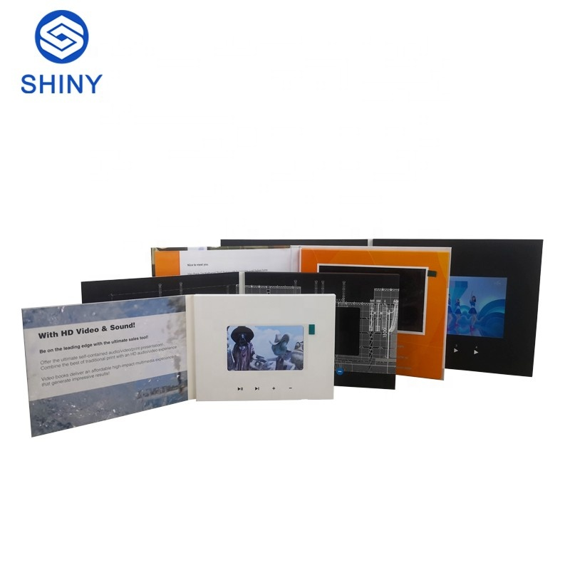 Direct Factory Free Sample Palm Size Video Greeting Card For Business Gifts 2.4 inch Special Slide Design Card