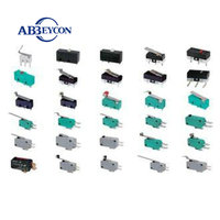 M10 KW7-0F 2 pin High quality solder connect terminal micro switch for electronic products push ON micro switch