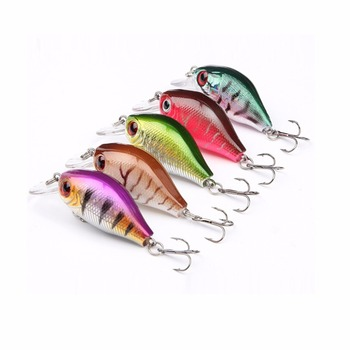 5Pcs Fishing Lures Crank Baits Mini Crankbait 5.5cm 8.5g