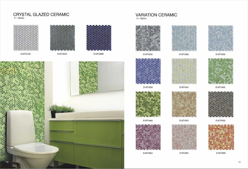 Green Porcelain Tile Bathroom Ceramic Tiles Green Color