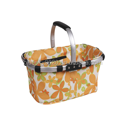 Wholesale basket picnic insulated Disposable picnic tote Basket
