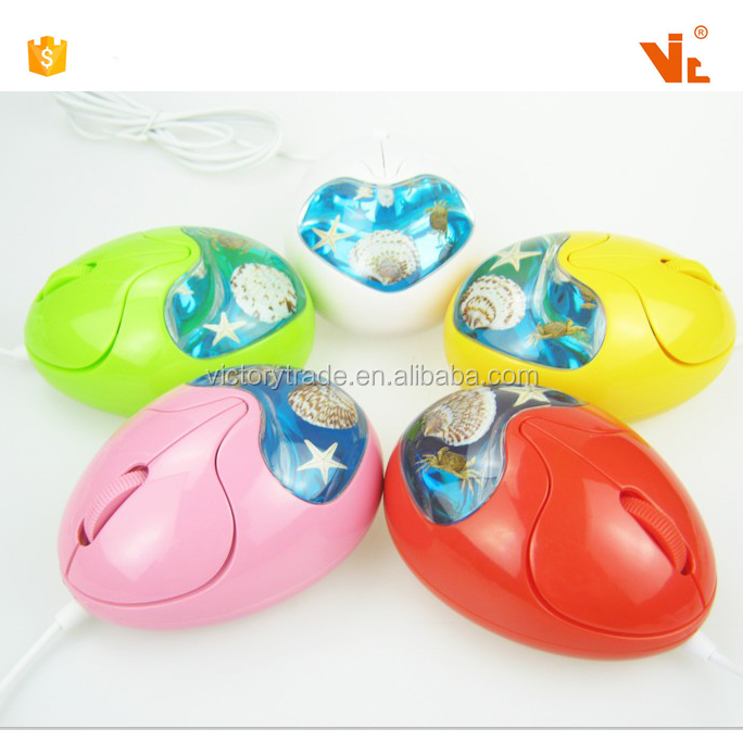 V-AMB004 cusmomized 3D egg shaped mouse for promotional gifts amber USB computer mouse sea animal mouse