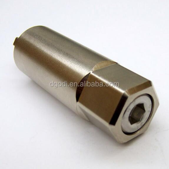 ISO certificated lathe turning tool stainless steel crank shaft, nickel plated