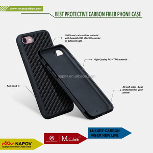 Newest Real Carbon Fiber Cell Phone Cover Soft TPU Case For Apple iPhone , For iPhone 8 Mobile Case Covers