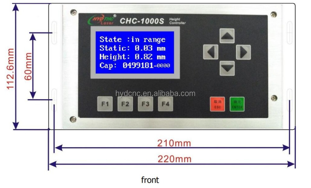 Capacitive height sensor for fiber laser cutting machine Laser auto focus system CHC-1000S